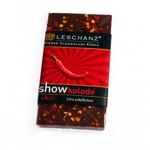 Leschanz Zartbitterschokolade Chili 50gr