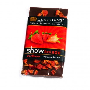 Leschanz dark chocolate strawberry 50gr