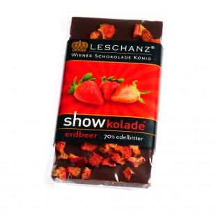 Leschanz Zartbitterschokolade Erdbeere 50gr