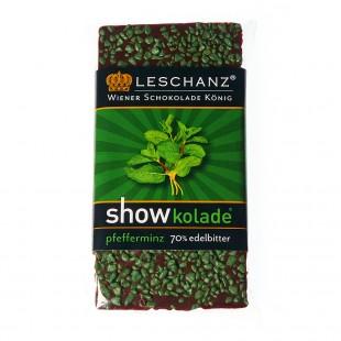Leschanz Zartbitterschokolade Pfefferminze 50gr
