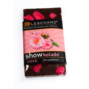 Leschanz Dark Chocolate Rose 50gr