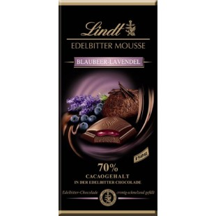 Lindt chocolate extra dark mousse Blueberry Lavender 150gr
