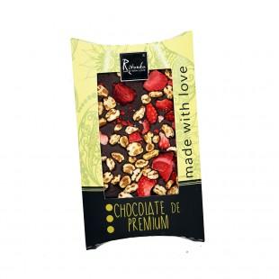 Ritonka Bitter-Schokolade Honig, Dinkel, Erdbeere 95gr