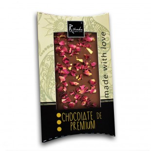 Ritonka Bitter-Schokolade 23k Gold und Rose 95gr