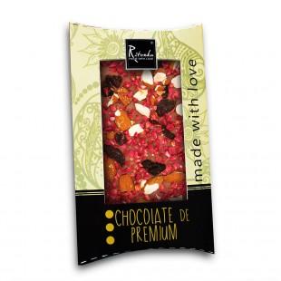 Ritonka Milch-Schokolade Himbeeren, Rosinen, Mandeln 95gr