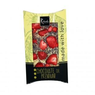 Ritonka Weiße-Schokolade Erdbeeren, Mohn 95gr
